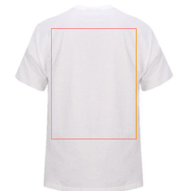 Sportage kids t-shirt white back with design area