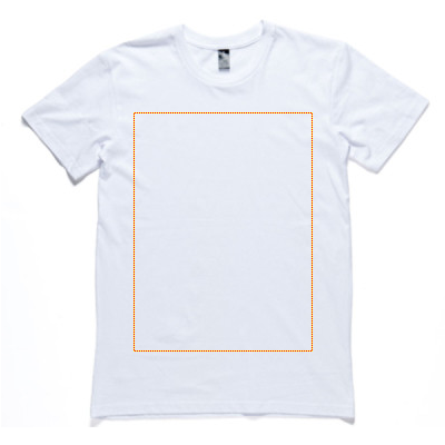 front of staple tee
