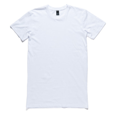 Ascolour mockup image of the tall tee showing the front side