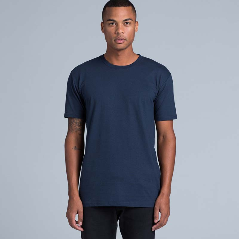 ASColour staple tee as worn by a model facing the front
