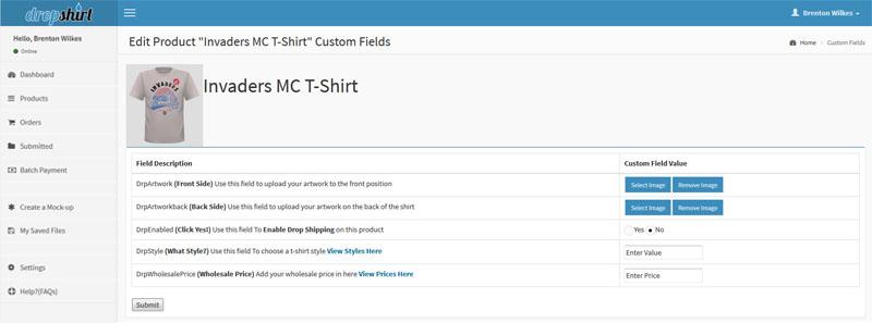 Add some data to your custom fields