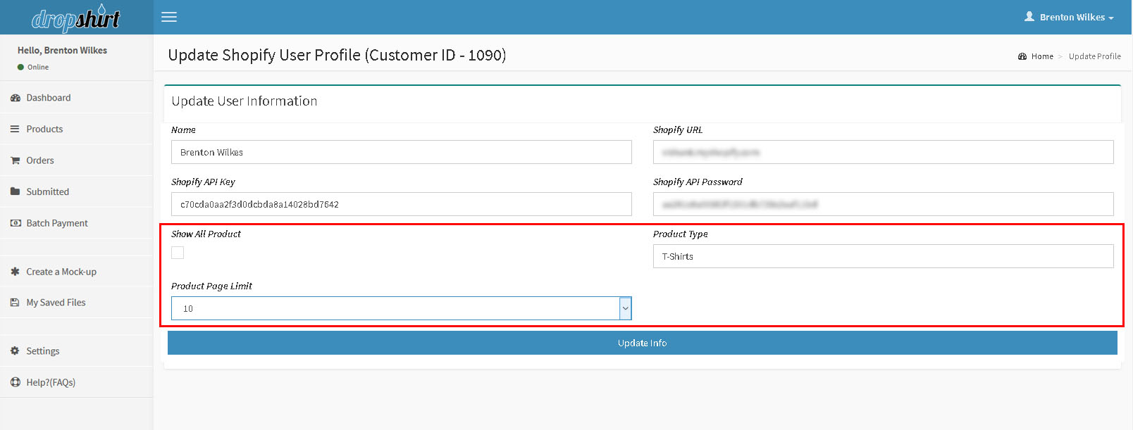 How to set up product search details